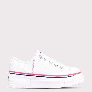 Tênis Capricho Like Podium Canvas - Branco/Pink