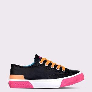Tênis Capricho Like Class Joy - Preto/Pink