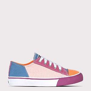 Tênis Capricho Likes Multicolor - Multicolor/Rosa Antigo