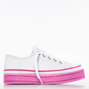 Tênis Capricho Likes Platform Class Mix - Branco/Pink