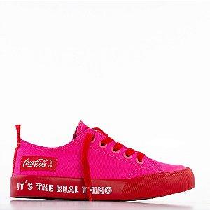 Tênis Coca-Cola Resort Rt - Pink/Vermelho