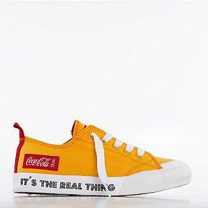 Tênis Coca-Cola Resort Rt - Amarelo