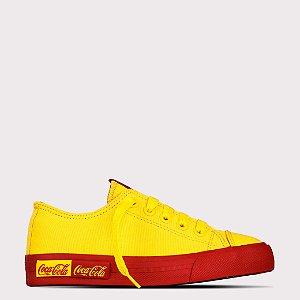 Tênis Coca-Cola Blend Canvas - Amarelo/Vermelho