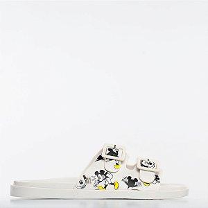 Chinelo Melissa Wide + Mickey - Branco/Amarelo