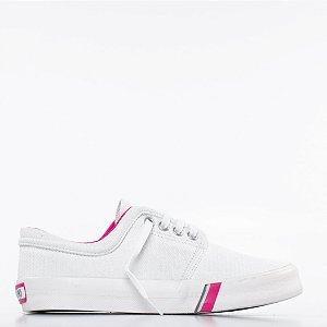 Tênis Capricho Flip Cotton - Branco/Pink