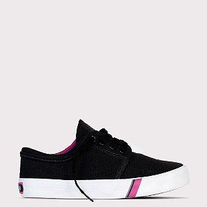 Tênis Capricho Flip Cotton - Preto/Pink