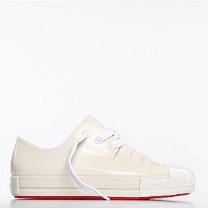 Tênis Melissa Squad Sneaker - Bege/Branco