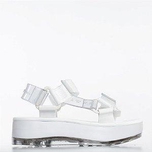 Papete Platform Melissa + Rider - Vidro/Branco