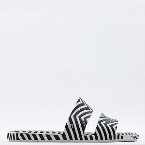 Chinelo Melissa Color Pop + - Branco/Preto