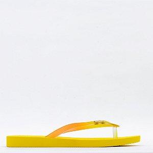 Chinelo Melissa Sun Venice AD - Amarelo/Vidro