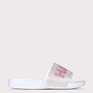 Chinelo Capricho Slide Have Fun - Branco/Gloss