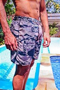 Shorts tactel mauricinho cinza