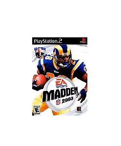 Jogo Madden NFL 2003 - Playstation 2 - PS2