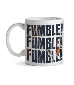 Caneca Fumble! Fumble! Fumble! Branca