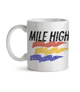 Caneca Mile High Branca