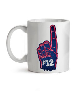 Caneca Number One New England Branca