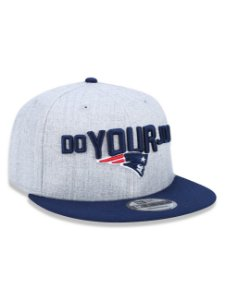 Boné 950 New Era NFL New England Patriots Mescla Cinza