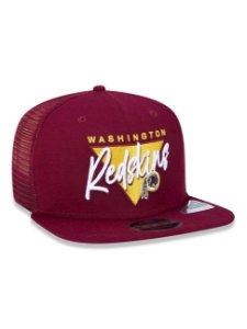 Boné Trucker New Era NFLWashington Redskins Vinho