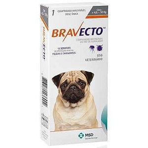 Antipulgas e Carrapatos MSD Bravecto para Cães de 4,5 a 10 Kg