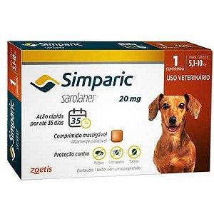 Antipulgas Zoetis Simparic 20 mg para Cães 5,1 a 10 Kg (57)| 11 perguntas