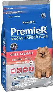 PREMIER CÃES RAÇAS ESPECÍFICAS SPITZ ALEMÃO ADULTO SABOR FRANGO 1Kg