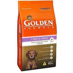 Ração Golden Formula Carne e Arroz para Cães Filhotes de Raças Pequenas 10  Kg