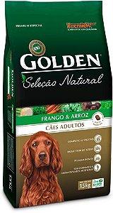 GOLDEN SELEÇÃO NATURAL CÃES ADULTOS SABOR FRANGO & ARROZ 15 Kg