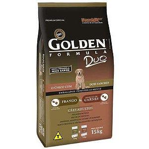 Ração Premier Golden DUO Cães Adultos Frango à Moda Caipira e Seleção de Carnes ao Molho 15 kg