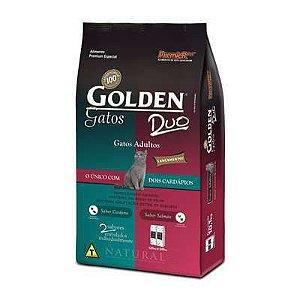 Ração Golden DUO Gatos Adultos - Salmão e Cordeiro 10 kg