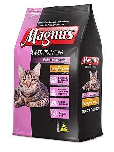 Magnus Super Premium Gatos Castrados Sabor Frango e Arroz 10.1 Kg