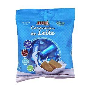 Bala de Caramelo de Leite Sem Lactose Sem Adição de Açúcares Adoçado com Stévia Natural Sem Glúten contém Colágeno e Fonte de Fibras 52g