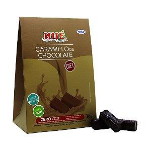 Bala de Caramelo de Chocolate Diet Hué Contém Colágeno Sem Glúten Embalagem Premium 90g