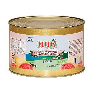 Doce de Goiaba Cremoso Diet Hué (Sem Adição de Açúcares) Vegano Sem Glúten Sem Lactose 1,9 KG