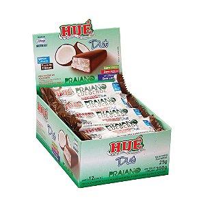 Display Praiano  Diet Hué (Sem Adição de Açúcares) Vegano  Sem Glúten  Sem Lactose 300 g (com 12 Unidades de 25g)