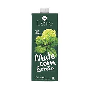 Chá Mate com Limão + Estilo 1 Litro Sem Conservantes e Adoçado com Açúcar Orgânico