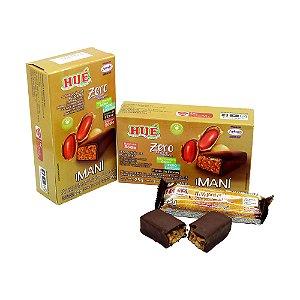 Maní - Pé de Moleque com cobertura de Chocolate  Diet Hué (Sem Adição de Açúcares) Vegano  Sem Glúten  Sem Lactose 75g (Com 3 Unidades de 25g)