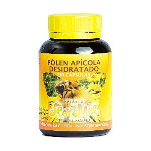Pólen Apícola Desidratado com 60 Capsulas de 500mg Pote 30g Sem Glúten Apiário Flor de Mel