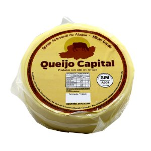 Queijo Capital Artesanal Tipo Parmesão de Alagoa-MG Peça Inteira Aprox. 1Kg*