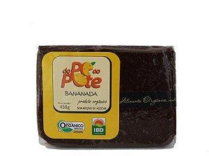 Bananada Orgânica 450g Sem Adição de Açúcar Sem Glúten Sem Lactose Do Pé ao Pote