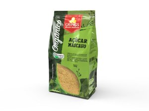 Açúcar Mascavo Orgânico 500g Grings Alimentos