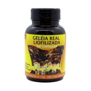 Geleia Real Liofilizada em Capsulas 100 mg Contém 30 Capsulas Sem Glúten Apiário Flor de Mel