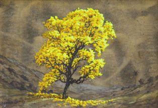 Obra Ipê 20 x 30 Atelier de Pintura Jonas Lemes Cód. ref. 761