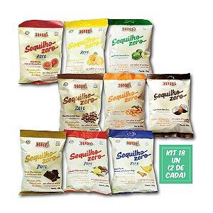 Sequilhos Sortidos Zero Sem Lactose E Glúten 120g Hué Kit 18 Sequilhos  (com todos os Sabores 2 de cada)