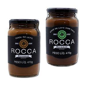 Kit Doce De Leite Rocca Puro E Café Pote 470g Tradicional 2 Und