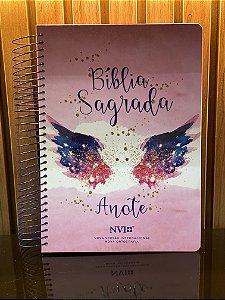 Bíblia Sagrada Anote | NVI | Letra Normal | Capa Dura | Espiral | Asas do Pensamento