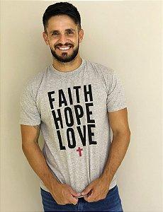 Camiseta Faith Love Hope