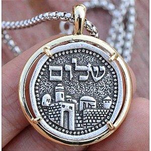 Colar Judaico com Pingente Cidade Velha + Shalom