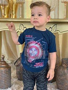 Camiseta Capitão América Infantil