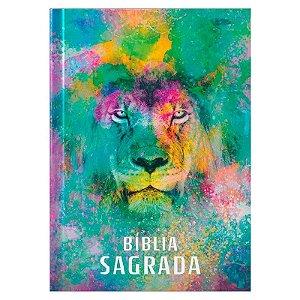 Bíblia Sagrada | ACF | Leão  Color| Letra Média | Capa Brochura