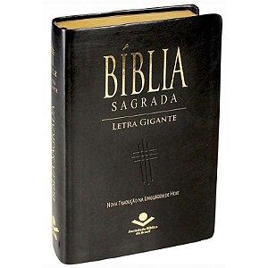 Bíblia Sagrada | NTLH | Letra Gigante | Luxo | Preta | índice